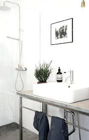 contemporary 3 4 bathroom with waterworks henry metal round double three leg washstand pendantsink legs standard