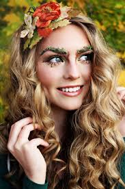 forest fairy woodland fairy makeup tutorial moss eyebrows twiggy lashes peach flush glossy lips jackie wyers