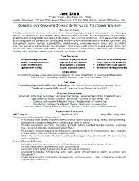Cosmetologist Resume Simple Cosmetology Resume Objective Resume Tutorial Pro