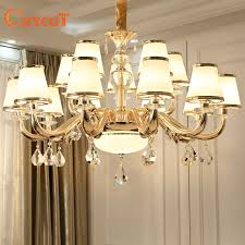 modern luxury crystal chandelier lighting for living room european re para with glass lampshade indoor pendant lamp home