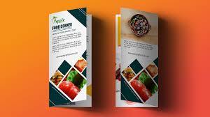 Flyer Design Food Bi Fold Brochure Design For Food Restaurant Photoshop Tutorial