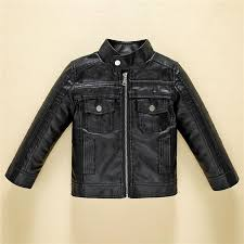 infant coat 2018 autumn fashion design leather jacket for boys black leather solid coat baby cardigan children clothes 3 11y top winter jacket for toddler