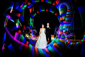 light painting photo at a curradine barns wedding by steve gerrard photography