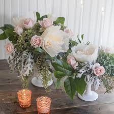 Paper Flower Arrangements Dyi Crepe Paper And Fresh Flower Centerpieces