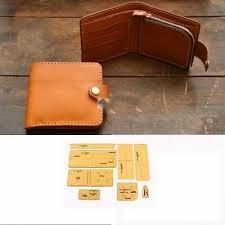 diy leather craft card holder zipper