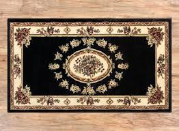 past medallion black french formal traditional area rug easy to clean stain fade resistant shed free modern contemporary fl transitional rugs m