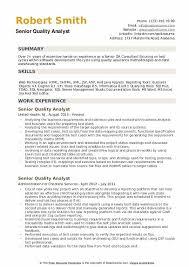 Senior Quality Analyst Resume Samples Qwikresume