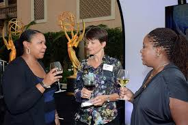 Andrina Davis, Michelle Holt, and Shirley Salomon at the Executives Peer  Group celebration August 25, 2015, at the Montage in Beverly Hills,  California. | Television Academy