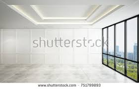 the empty modern living room interior design and white pattern wall 3d rendering new model n24 living