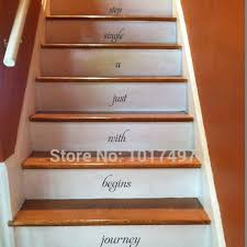 Stairs Quotes Extraordinary Every Journey Begins Inspirational Quotes Vinyl Wall Sticker