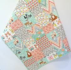 28 best Woodland Baby Quilts for Sale images on Pinterest ... & Woodland Baby Girl Quilt Hello Bear Deer by CarleneWestberg Adamdwight.com