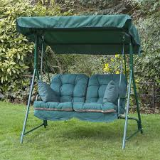 garden swing seat cushions uk. mosca 2 seater swing seat - green frame with classic cushions garden uk e