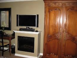 hadsten house gas fireplace and flat panel tv
