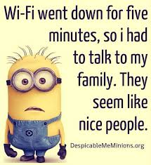 funny wi fi joke with minion words