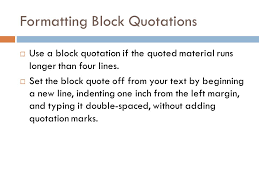 Mla Format Block Quotation Tirevi Fontanacountryinn Com