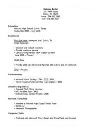 Resume High School Student Resume Examples For Jobs Best
