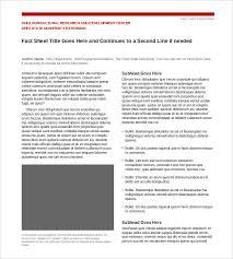 24 Fact Sheet Templates Pdf Doc Free Premium Templates
