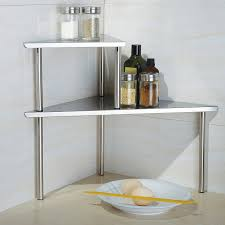 ... Mesmerizing Countertop Corner Shelf 84 Counter Corner Shelf Unit  Kitchen Counter Corner Shelf: Full Size