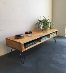Oldfield Low Mid Century Style Side Table/ Coffee Table/ TV Stand On  Hairpin Legs (Diy Muebles)