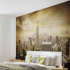 New York City Bedroom Wallpaper Wall Mural Photo Wallpaper Xxl Sepia New York City 3586ws Ebay