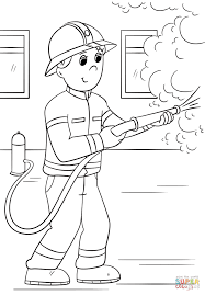 Small Picture Cartoon Firefighter coloring page Free Printable Coloring Pages