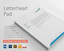 Official Pad Design Free Download Letterhead Pad Design Stationary Branding Identity Template