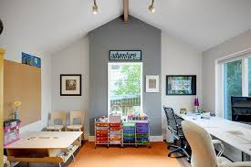 office playroom. Simple Office A Versatile Backdrop In Office Playroom Decoist