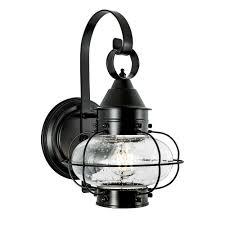 Black Outdoor Onion Lights Norwell Lighting 1323 Bl Se Cottage Onion One Light