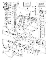 mercury outboard lower unit parts diagram new johnson gearcase parts for 1977 140hp 140tl77s outboard motor