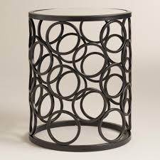 decor of metal drum accent table with drum accent tables kc designs