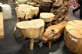 wood stump coffee table designs wooden