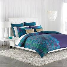 decorating with purple green and blue