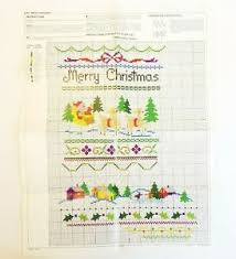 Details About Bucilla Cross Stitch Stocking 82002 Merry Christmas Chart Only