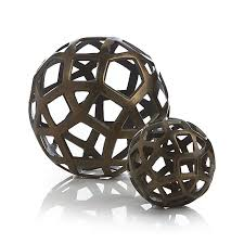 Decorative Metal Balls Geo Decorative Metal Balls Crate And Barrel Home Decor 12