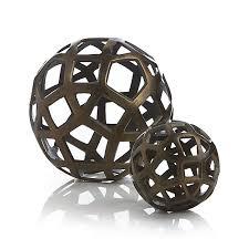 Decorative Metal Balls Shop Geo Decorative Metal Balls Pentagons triangles and squares 10