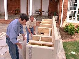 wood framed outdoor kitchen diy network