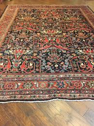 1114 Area Rugs Collection Handmade Antique Persian Mahal Wool Oriental Rug
