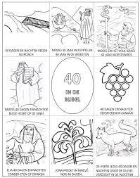 Kleurplaat 40 In De Bijbel Bijbels Opvoedennl