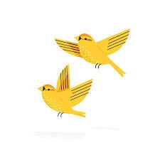 Yellow Bird Design Yellow Birds Bird Graphic Bird Illustration Illustration Art