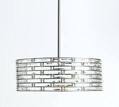 chandeliers rectangle crystal chandelier regent pottery barn cassiel rectangular drop