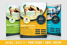 Flyers Formats Fitness Club Flyer Graphics Software Formats File