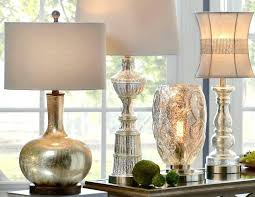 mercury glass table lamp tall mercury glass table lamps pottery barn leera antique mercury glass table