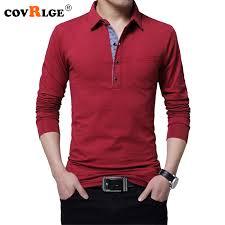 <b>Covrlge 2018</b> Spring <b>New Male</b> Polo Shirt Long Sleeve Cotton ...