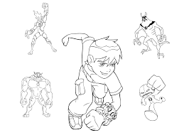 Teen Titans Line Art Coloring Page Free Printable Superheroes