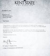 accomplishments and skills nicolle kovacs dean s list letter