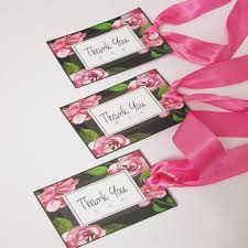 Design Pack Gifts Thank You Gift Tags X10 Pink Rose Design