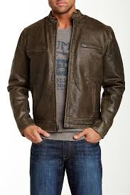 image of lucky brand bonneville genuine leather jacket size chart