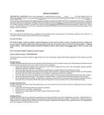 Project Contract Templates Free Service Agreement Templates General Contract Template ...