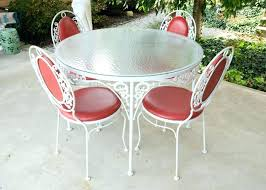white cast iron patio furniture. Used White Wrought Iron Patio Furniture Table French Provincial Style Cast Outdoor Sydney Metal O
