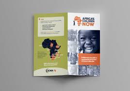 Christian Pamphlet Designs Africas Children Now Brochure Design Christian Nonprofit